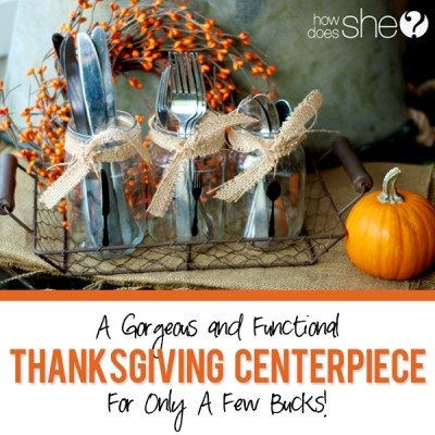 A functional Thanksgiving center piece for a few buck'a'roos!