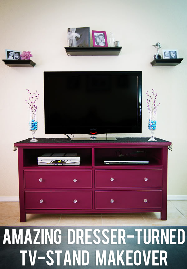 bedroom tv stand dresser.  Amazing Dresser Turned TV Stand Makeover