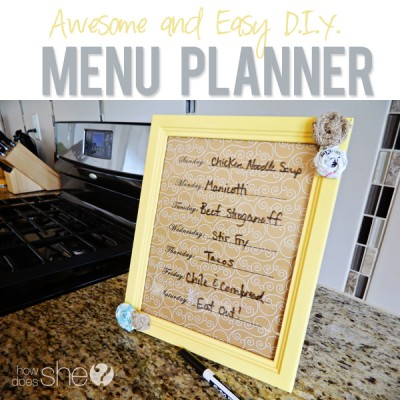 Time to get Organized – Easy Menu Planner