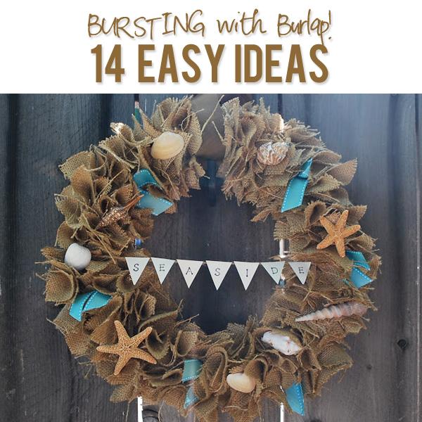 14 burlap craft ideas for Burlap bag craft ideas