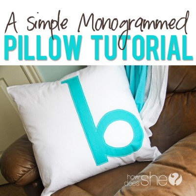 Simple Monogrammed Pillow to Add a Personal Touch to Any Room