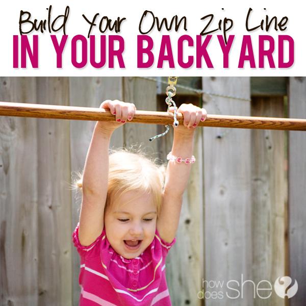 - Build Your Own Zip Line!