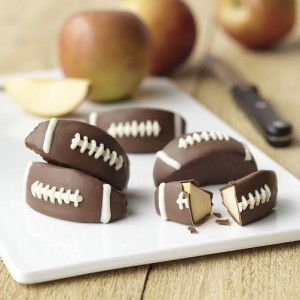 Candy-Coated Apple Football Treats
