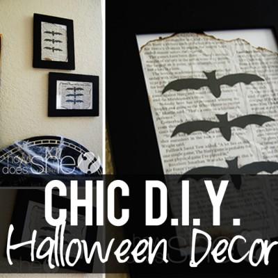 Chic, DIY Halloween Decor!