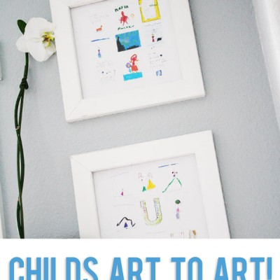 Childs Art to ART! 18 Pictures into 2! {{tutorial}}