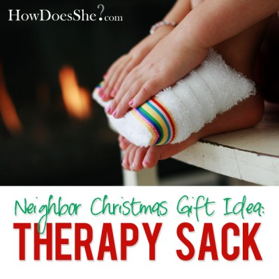 #9 Neighbor Christmas Gift Idea – Therapy Sacs