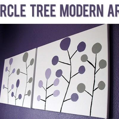 Circle Tree Modern Art