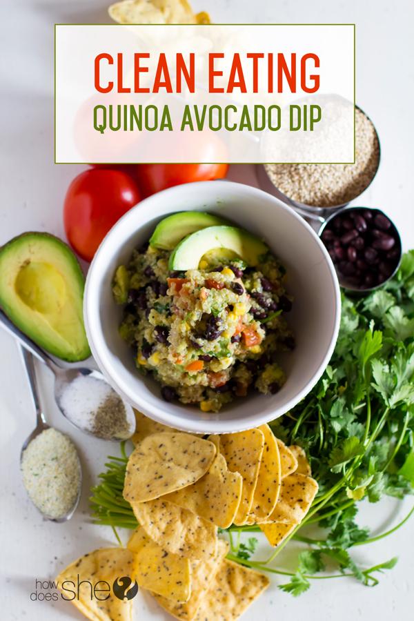 Clean Eating Quinoa Avocado Dip