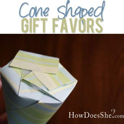 Cone Shaped Gift Favors for the Perfect Gift!