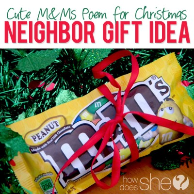 #38 Neighbor Christmas Idea – M&M's