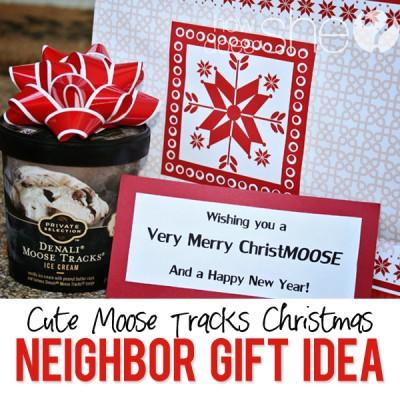 #34 Neighbor Christmas Gift- Moose Tracks