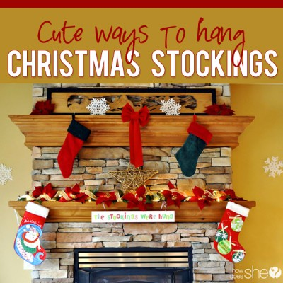 DIY Decor for Holiday Stockings – With or Without a Fireplace Mantle
