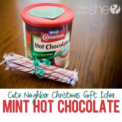 #36 Neighbor Christmas Gift Idea- Peppermint Hot Chocolate