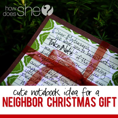 #41 Neighbor Christmas Gift Idea: Cute Note Pad