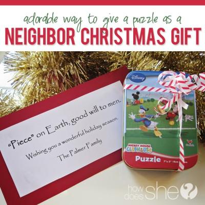 #31 Neighbor Christmas Gift- Puzzles