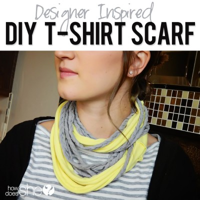 Designer-inspired t-shirt scarves
