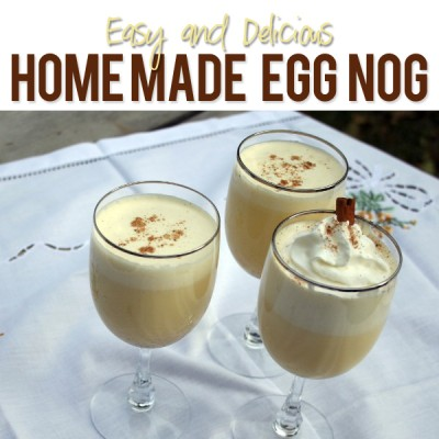 Delicious Homemade Eggnog