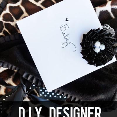 Designer Baby Blanket – Add a little trim