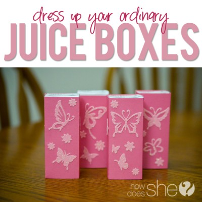 Party Drinks for Kids- Dress Up a Juicebox!