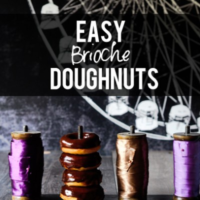 Easy Brioche Doughnuts with Chocolate Orange Ganache Glaze