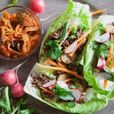 Easy Peasy Lettuce Wraps – Korean Style!