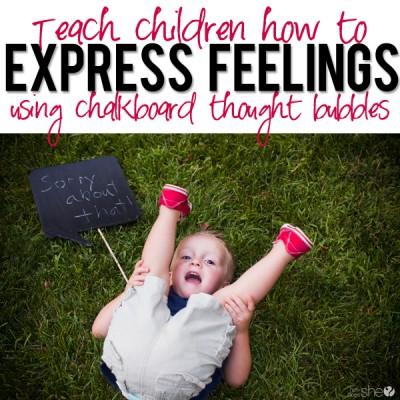 Expressing Feelings through Chalkboard Speech Bubbles