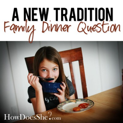 Family Dinner Question