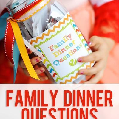 Family Dinner Printables