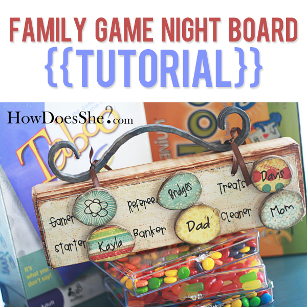 Family Fun Game Night Board