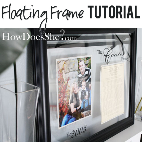 Diy Floating Picture Frame