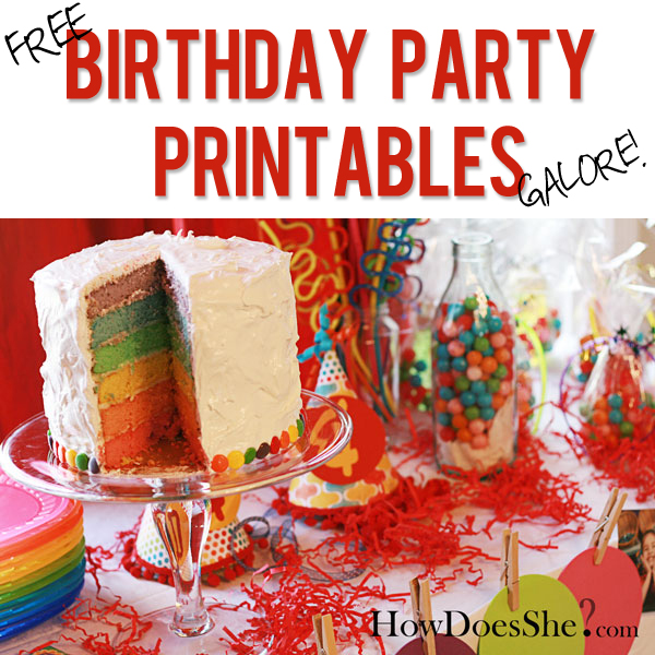 Time To Party FREE Birthday Party Printables Galore