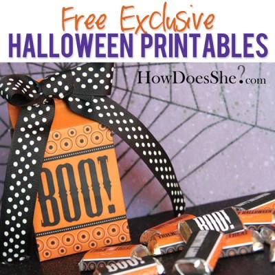 Free Exclusive Halloween Printables