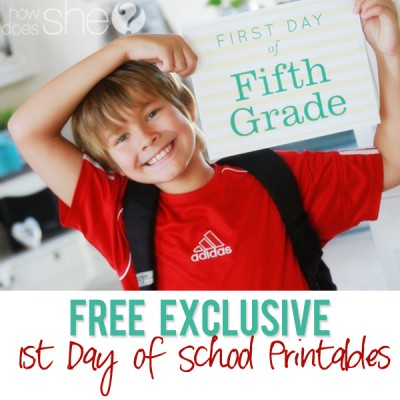 FREE- Exclusive 1st day of School Printables