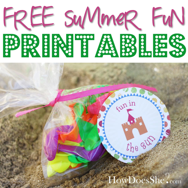 Free summer printables how does she negle Choice Image