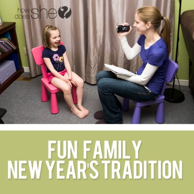 Fun Family tradition for New Year's Eve!