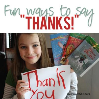 Fun ways to say Thanks!