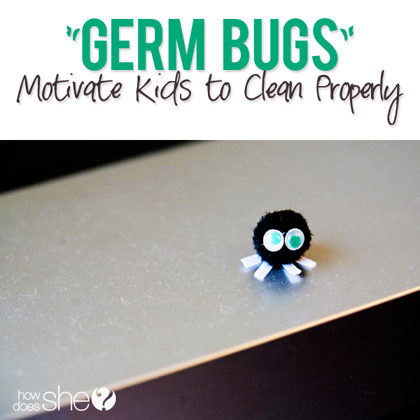 germ bugs motivate kids to clean properly. Black Bedroom Furniture Sets. Home Design Ideas