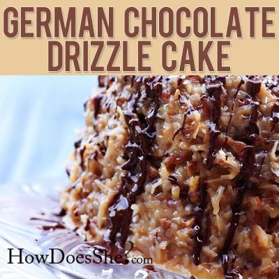 German Chocolate Drizzle Cake