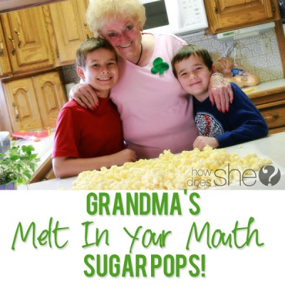 Grandma's melt in your mouth Sugar PoPs!