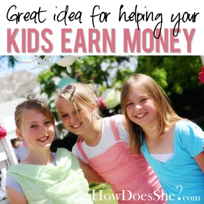 Great idea for helping kids earn money!
