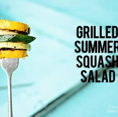 Grilled Summer Squash Salad with Cumin-Lime Vinaigrette