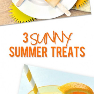 Here Comes the Sun! Suncatcher Pops, Sunshine Smoothie, and Other Sunny Treats