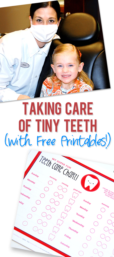 Taking Care of Tiny Teeth-Tips and Free Printable Teeth ...