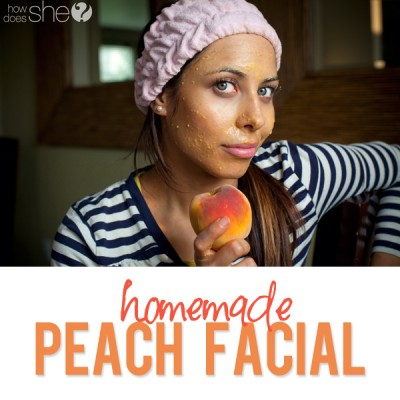 Homemade Facial Mask using Peaches