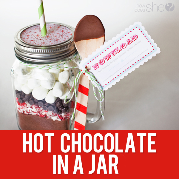 33 Neighbor Gift Idea Hot Chocolate In A Jar With Free