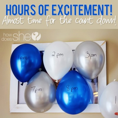 Hours of excitement! Almost time for the count down. – New Years Eve Ideas