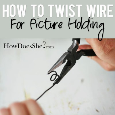 How To Twist Wire For Picture Holding!