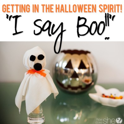 """""""I say Boo!!"""" Getting in the Halloween Spirit."""