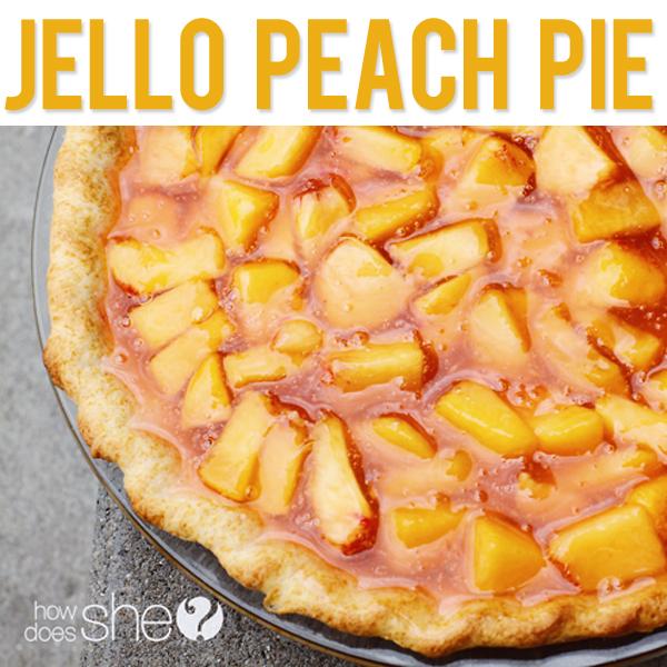 Jello peach pie for Peach pie recipe with canned peaches