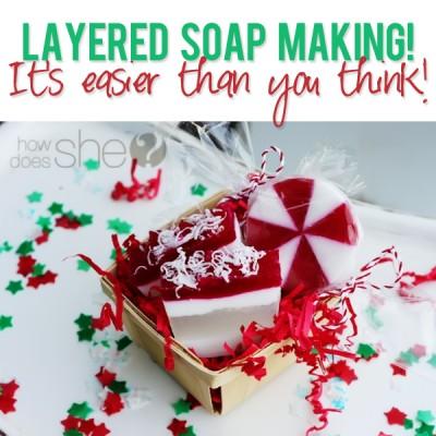 Layered Soap Making